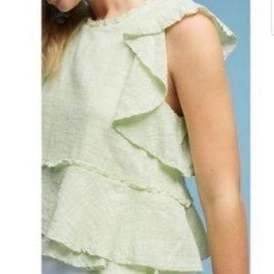 Anthropologie Maeve Cascade Tiered Shell Top large